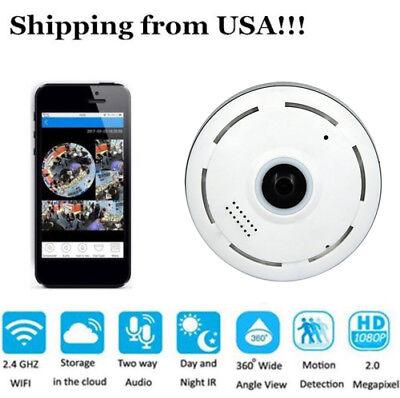 360  Mini Smart Wifi Panoramic Ip Camera Wireless Home Security 1080P Hd Night