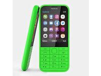 Original Nokia 225 in Bright Neon Green with Original Box (Unlocked)