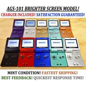 Nintendo Game Boy Advance GBA SP System AGS 101 Brighter MINT NE