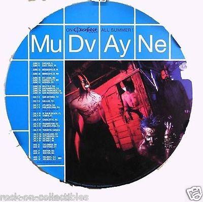 Mudvayne 2000 LD 50 Ozzfest Original Tour Promo Poster Round