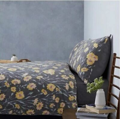 Cozee Home Jocelyn Fleece 4 Piece Duvet Set DOUBLE  OCHRE RRP£59.00