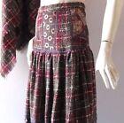Regular 100% Wool 6 Vintage Skirts for Women