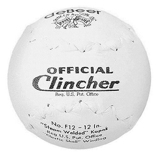 "Worth deBeer Official F12 Clincher 12"" Softball - (1 Dozen)"