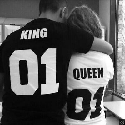 King And Queen Logo 01 Romantic Love Couple T-Shirts Summer Tee Tops 2018 Shirts