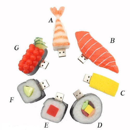 Delicious Sushi USB 2.0 Memory Stick Flash pen Drive 4GB 8GB 16GB 32GB BP87