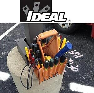 NEW IDEAL TUFF-TOTE TOOL CARRIER Ultimate Tool Carrier with Shoulder Strap, Standard Leather Model 107957976