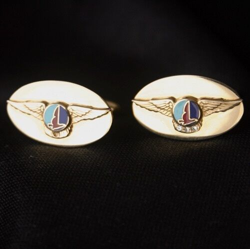 Vintage EASTERN Airlines 14K Gold Service Wing Cufflinks