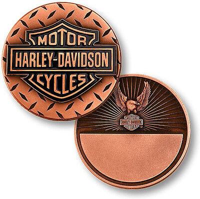 Saint Columbanis ~1.75oz .999 Silver Challenge Coin Harley Davidson