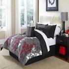 Black White Red Bedding