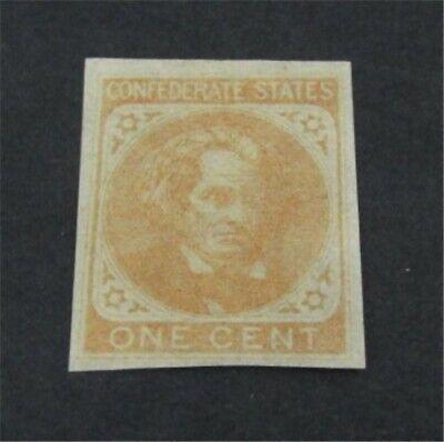 nystamps US CSA Confederate Stamp # 14 Mint OG H $100   L23x1648