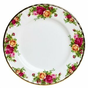 4 ROYAL ALBERT OLD COUNTRY ROSES 8 inch SALAD/LUNCHEON PLATES