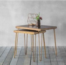 JOHN LEWIS 'Hudson Living' Pompeii Metallic Nest of Tables