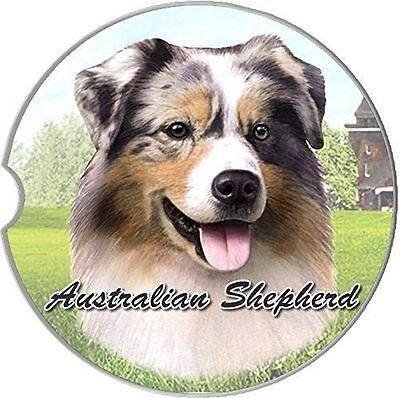 Australian Shepherd Sandstone Absorbent Dog Breed Car Coaster