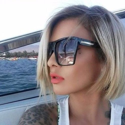 """XXL OVERSIZED """"Lauren"""" Women Sunglasses Aviator Flat Top Square Shadz Gafas"""