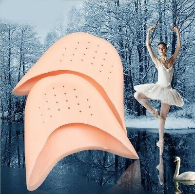 Women Men Soft Ballet Pointe Dance Shoe Pads Silicone Gel Toe Pad 2pairs Best (Best Pointe Shoe Pads)