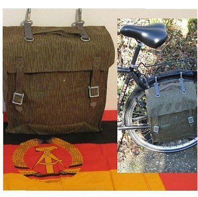 2 Stück NVA Tasche DDR Schwalbe Moped Satteltaschen Sturmgepäck Teil 1 gummiert