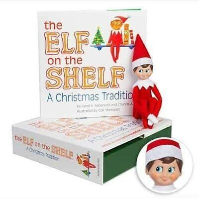 The Elf on the Shelf: A Christmas Tradition Book & Blue-Eyed Boy Scout Elf Doll