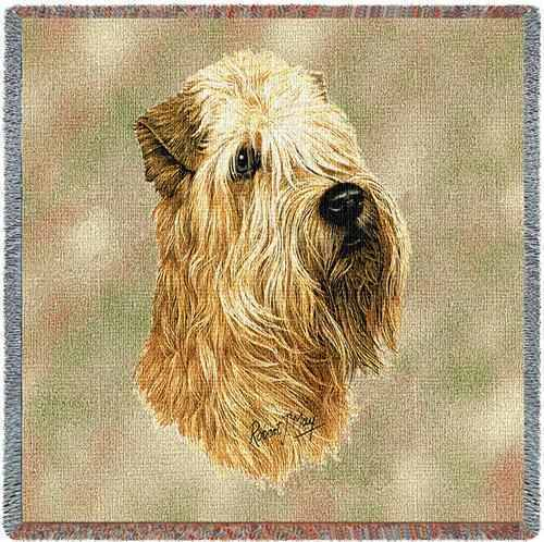 Lap Square Blanket - Wheaten Terrier by Robert May 1189