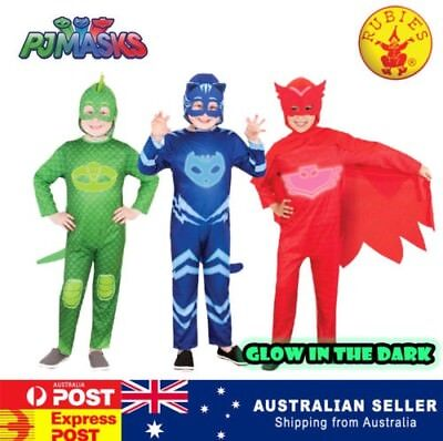 PJ MASKS- GLOW IN THE DARK CATBOY GECKO OWLETTE CHILDREN KIDS COSTUME BOOK WEEK](Gecko Costume)