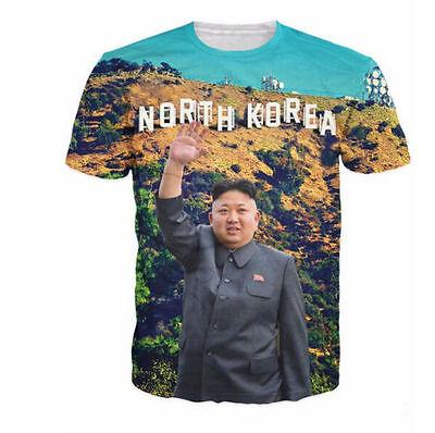 2016 Newest Fashion Womens Mens North Korea Kim Jong Un Funny3d Print T Shirt