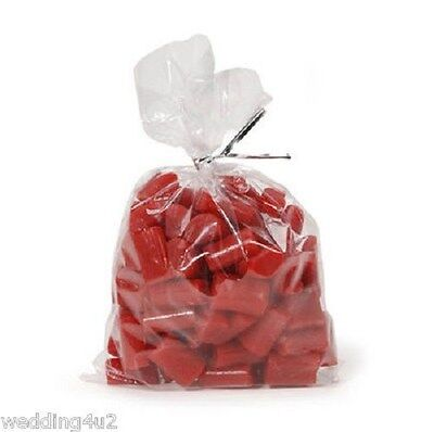 Candy Holiday Treat Bags  100  Clear Party Plastic Wedding Baby Showers Cookies