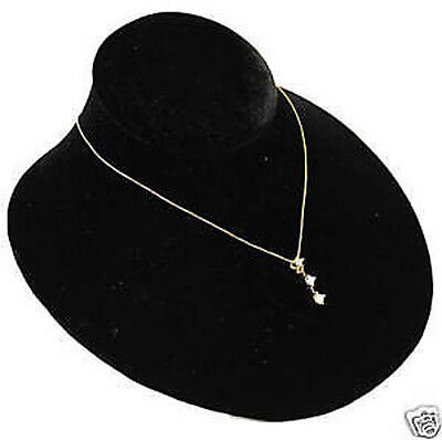 Single Black Velvet Jewelry Display Bust Pendants Necklaces Neck Forms