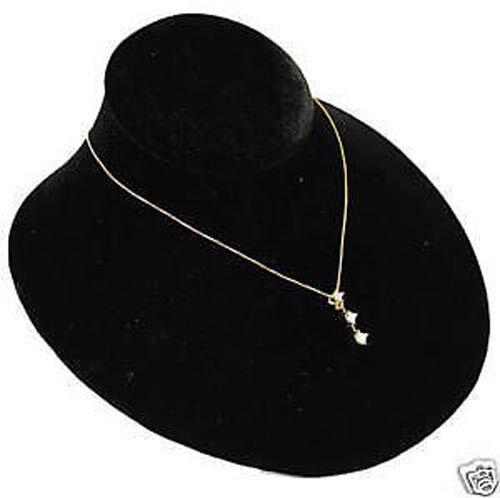 Single Black Velvet Jewelry Display Bust Pendants & Necklaces Neck Forms