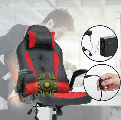 Silla Gaming Sport para oficina, escritorio, despacho masaje lumbar roja/negra