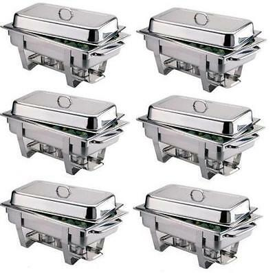PACK OF 6 STAINLESS STEEL CHAFING DISH SETS ***FREE NEXT DAY DELIVERY***