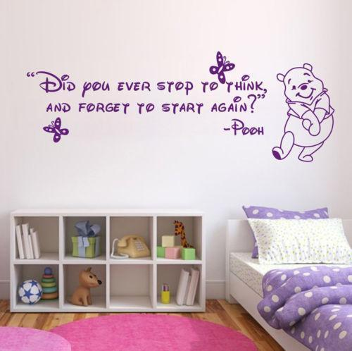 Winnie The Pooh Quotes: Home Decor