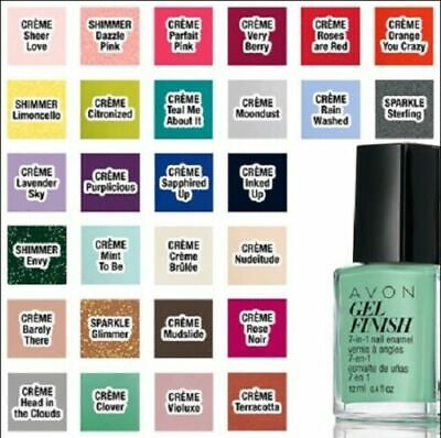 Avon Gel Finish 7-in-1 Nail Enamel / Nail Polish, CHOOSE COLOR: NEW IN BOX