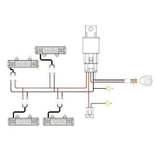 Universal 4 Lead LED Light Bar Wiring Harness Kit With