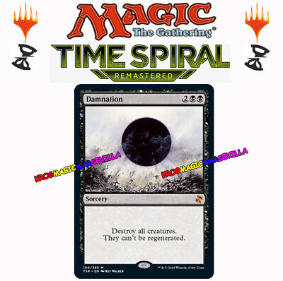 MTG Damnation ENGLISH TIME SPIRAL REMASTERED - Condenación NM