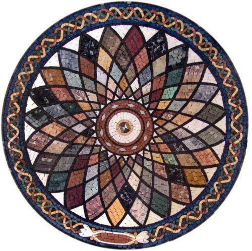 Round Mosaic Tile Patterns: Marble Medallion: Home & Garden