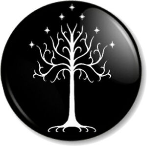 Tree-Of-Gondor-25mm-Pin-Button-Badge-Hobbit-JRR-Tolkien-Lord-Of-The-Rings-Book