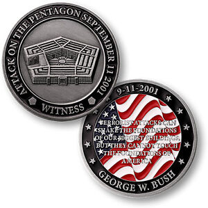 Pentagon 9-11 Attack Challenge Coin Witness September 11 2001 Washington DC 911