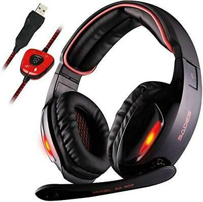 Gaming Headset USB Stereo Wired PC Ear Headphones Mic Noise