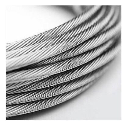 Drahtseil Edelstahl 1mm bis 8mm Draht Stahl V4A 7x7  Nirosta Inox Edelstahlseil (1 4 Seil)