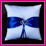 Blue Ring Cushion