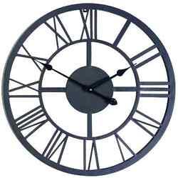 Large Outdoor Indoor Roman Numeral Wall Clock Huge Big Antique Home Office Metal