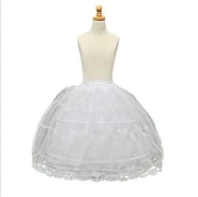 Long Children Crinoline Underskirt Petticoat Slip for Kids Flower Girl Dress](Girls Petticoat)