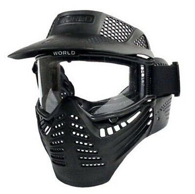 Full Face Tactical Mask Airsoft Paintball with Eye Protective Goggles New -