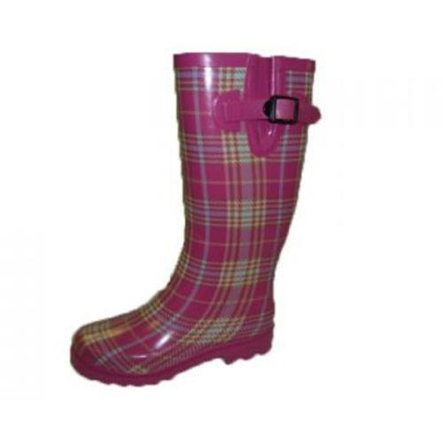 Womens Pink Rubber Boots Ebay