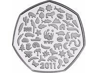 UK 2011 50p WWF
