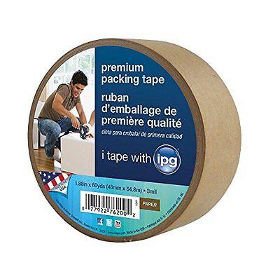 Intertape 9341 Kraft Paper Flatback Carton Sealing Tape 1.88-inch X 60-yard