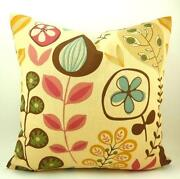 Green Brown Throw Pillow