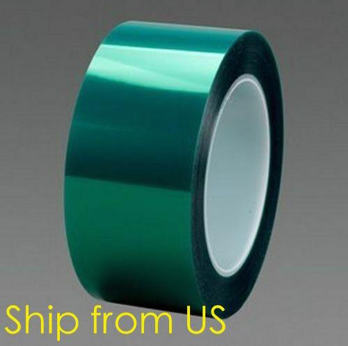 "2"" X 72 Yards HIGH TEMP Green Polyester Masking Heat Tape Powder Coating Paint"
