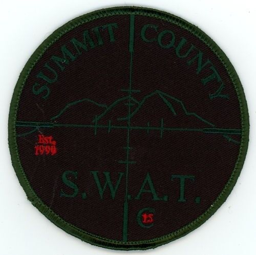 SUMMIT COUNTY SHERIFF COLORADO CO SUBDUED SWAT STYLE #2 PATCH POLICE