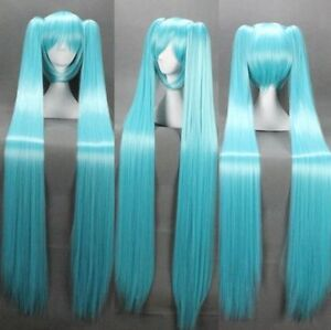 Vocaloid-Hatsune-Miku-2-Ponytails-Blue-Cosplay-Anime-Long-Wig-120cm-gift