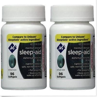 Sleep Aid Sleeping Pills Members Mark Diphenhydramine 50 Mg 192 Softgels  2019